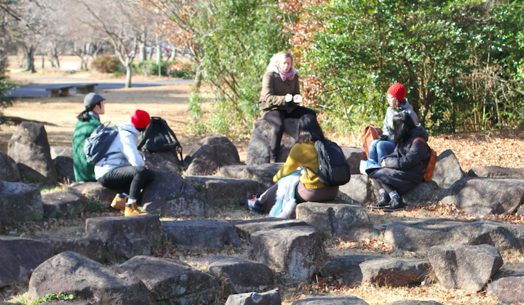 when young people meet at the rocks and teach each other